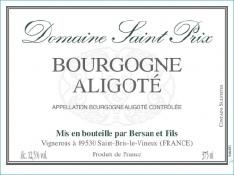 Aligoté - Domaine Saint Bris - Jean-Louis Bersan et fils