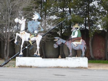 Don Quichotte & Sancho Pancha voor Tapas Bar El Venta