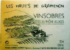 DOMAINE GRAMENON - VINSOBRE - LE HAUTE GRAMENON - MICHELE LAURENT