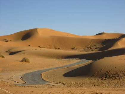 Filmset in de woestijn