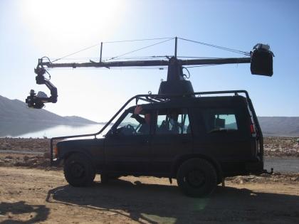 Filmotechnic Holland - Russian Arm op de Landrover. Precision driver John Lambij