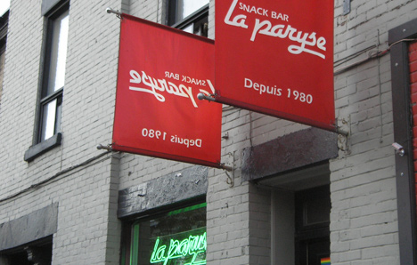 Snackbar 'La Paryse' - depuis 1980 - Montréal, Quebec, Canada