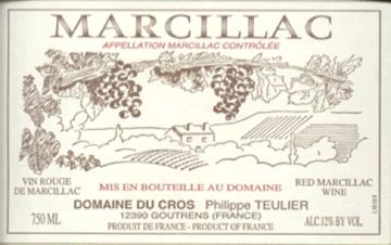 Domaine du Cros Marcillac LO SANG DEL PAIS