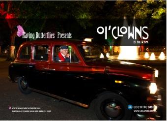 Hans Dagelet as Federico Fellini and the Taxi in Oi'Clowns