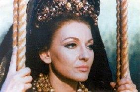 Maria Callas als Medea hoofdrol van de gelijknamige film van Pasolini