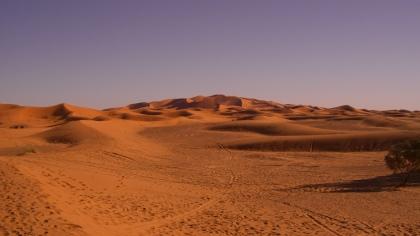 Laatste blik op de Marokkaanse woestijn