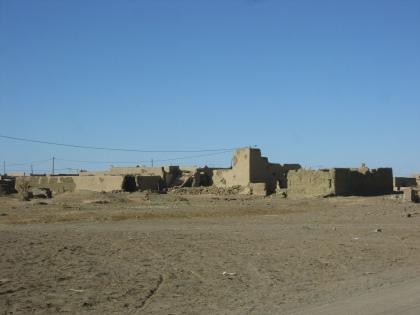 Ruine dorp in de woestijn achter Marzouga