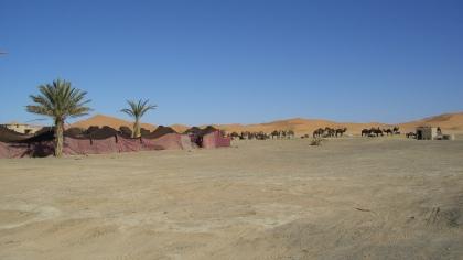 Groot uitzicht richting Marokkaanse woestijn