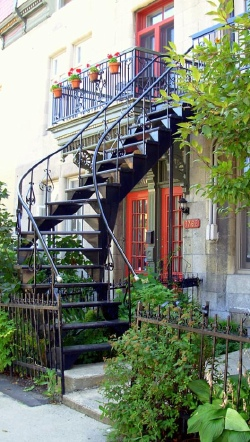 Typical Stairs of Montreal - Quebec, Canada