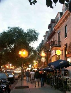 Rue Saint Denis, Montreal, Quebec, Canada