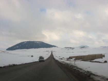Besneeuwde Wegen in Midden-Marokko