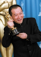 Tan Dun with Oscar for Crouching Tiger Hidden Dragon