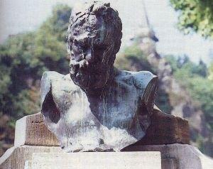 Victor Hugo - Buste te Vianden, Luxembourg