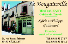 Restaurant Le Bougainville Businesscard